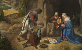 Джорджоне - Поклонение пастухов