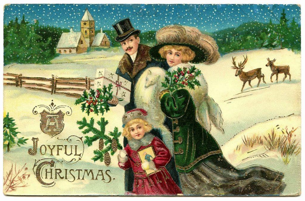 С рождеством открытки старые